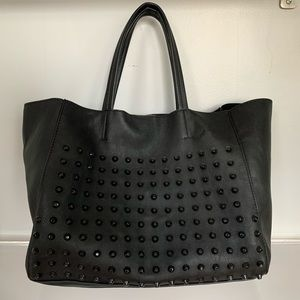 Steve Madden black studded tote bag